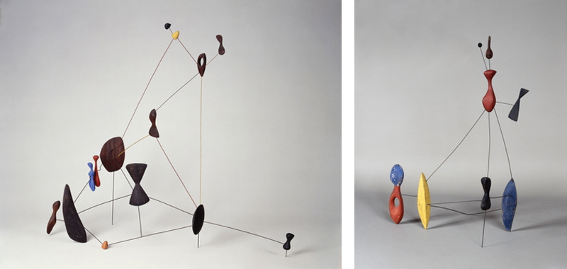 Left-Alexander-Calder-Constellation-1943-Rght-Alexander-Calder-Constellation-with-two-pins-1943-Calder-Foundation-New-York